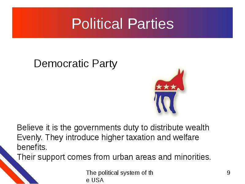 an analysis of the two party political system of the united states