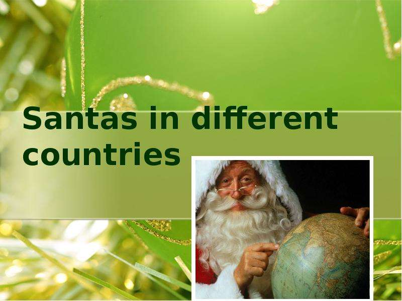 Santas in different countries