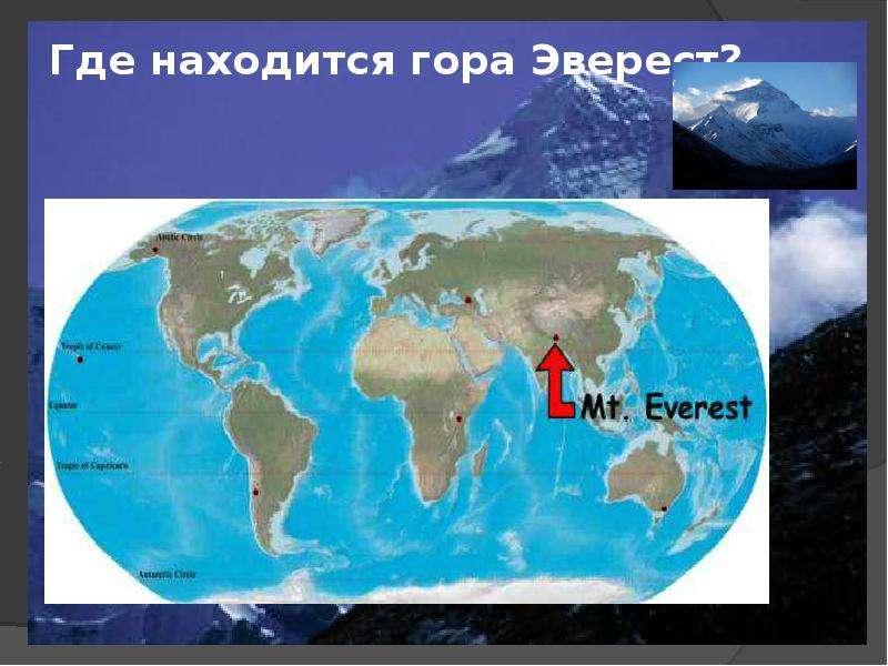 Где находится на карте джомолунгма