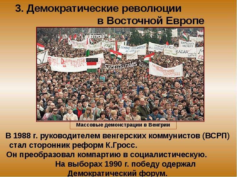 Восточной европы.. странах революции в шпаргалка народно-демократические