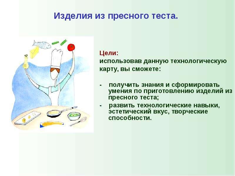 Технологическая карта «Изделия