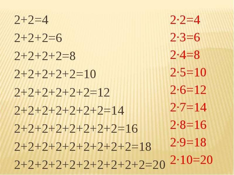 таблица умножения на 2 и 3 тренажер