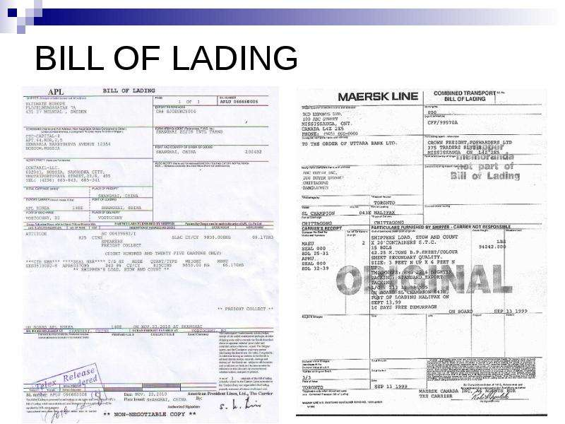 bill of lading Op-097g 11/11 straight bill of lading—original—not negotiable date: pro no b/l no: page shipper no trailer no consignee name and address.