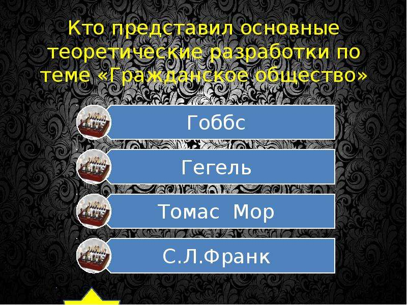 Кто представил основные теоретические разработки по теме «Гражданское общество»