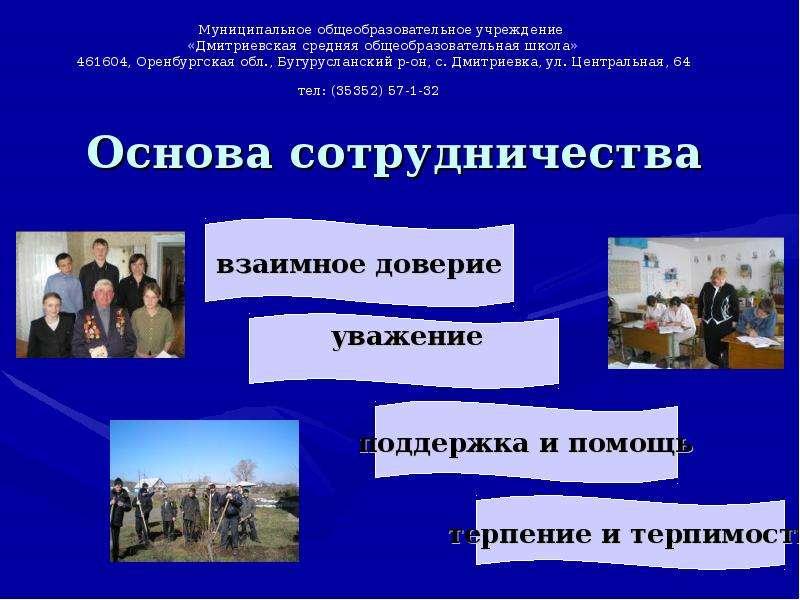 «Опыт организации взаимодействия школы с родителями», слайд 4
