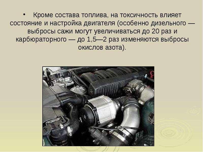 Выхлопные газы двигатель