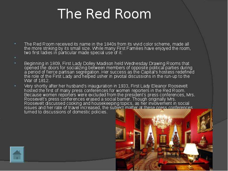 the language in the red room by Red also indicates danger (the reason stop lights and signs are red, and that warning labels are often red) outside the western world, red has different associations for example, in china, red is the color of prosperity and happiness.