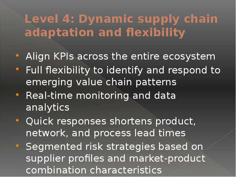 the supply chain network provides flexibility for The result is a supply network that provides the right balance of flexibility and cost efficiency, while also meeting the requirements of a dynamic market we help you take the guesswork out of implementing changes across your supply chain.