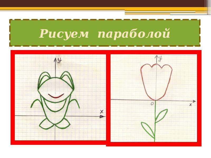 Рисовать параболами