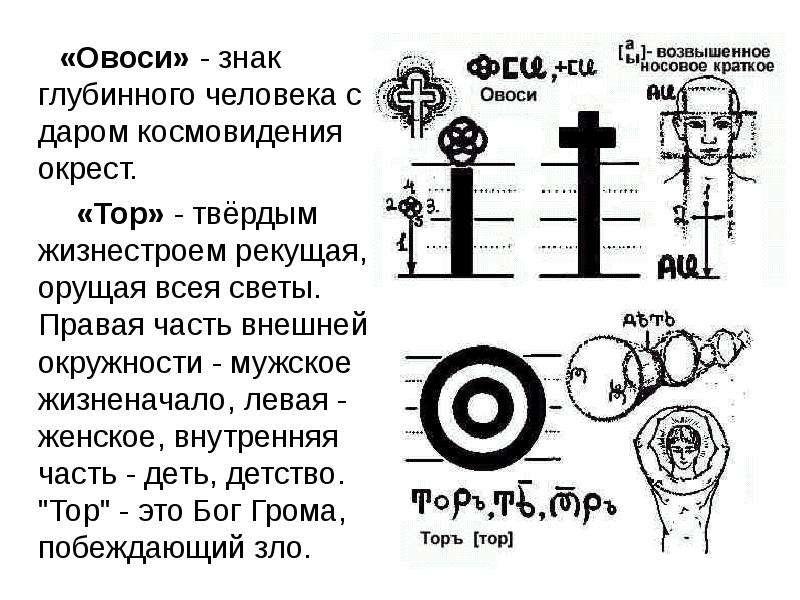 «Овоси» - знак глубинного человека с даром космовидения окрест. «Овоси» - знак глубинного человека с