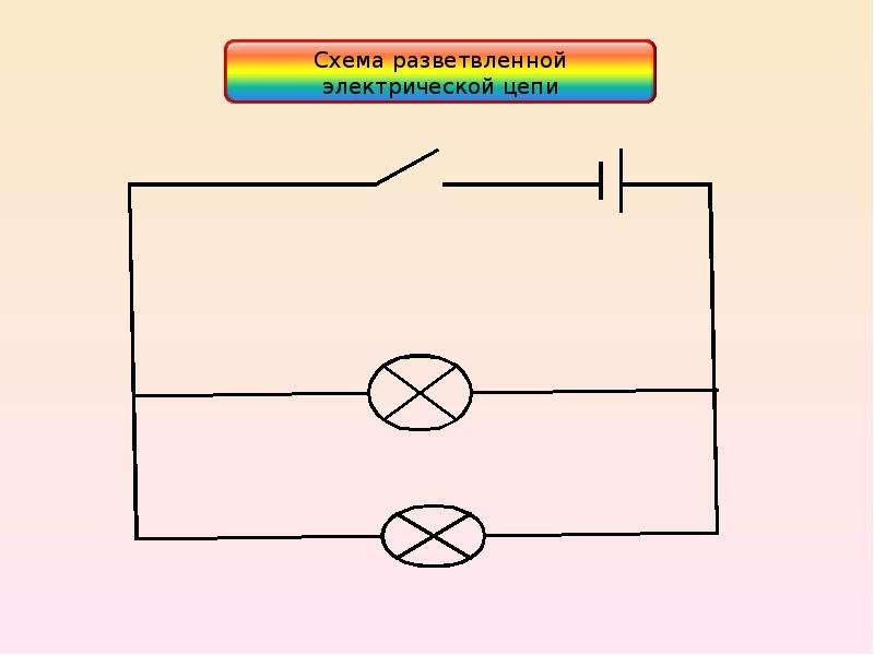 Схема электрической цепи для школьника