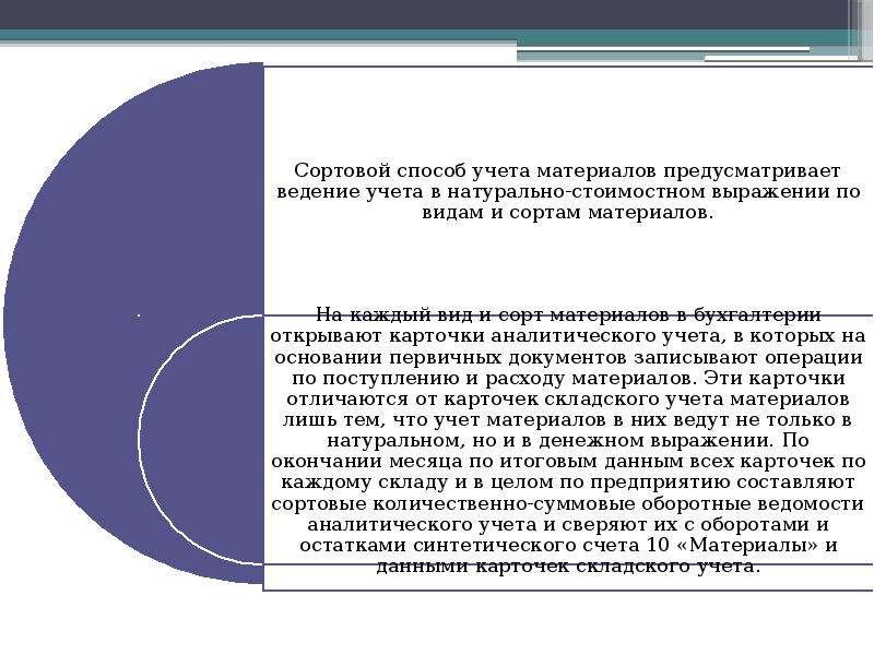 Документальное оформление и учет материалов