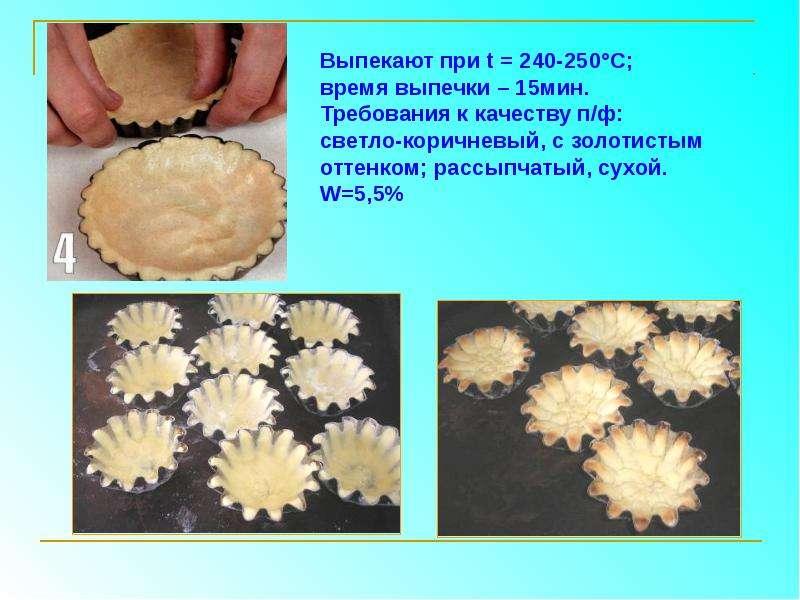 Приготовление пирожного «Корзиночка» песочная с масляным кремом, слайд 8