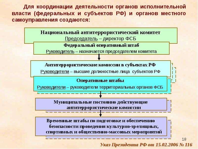 Для координации деятельности органов исполнительной власти (федеральных и субъектов РФ) и органов ме