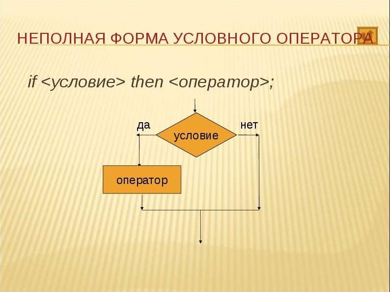 if <условие> then <оператор>; if <условие> then <оператор>;
