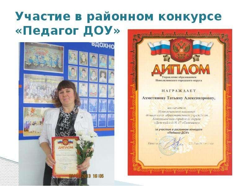 Презентации конкурса педагогов доу