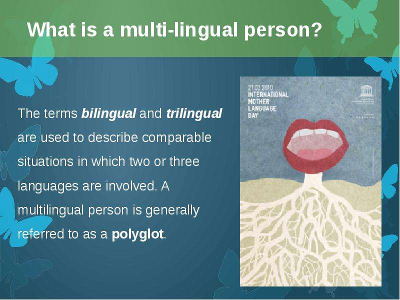 bilingual person