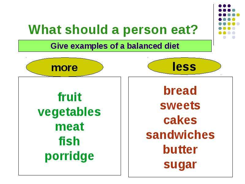 an example of eating a balanced diet
