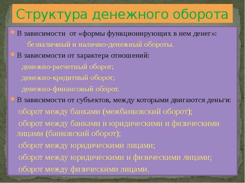 Денежный Оборот Рф Шпаргалка