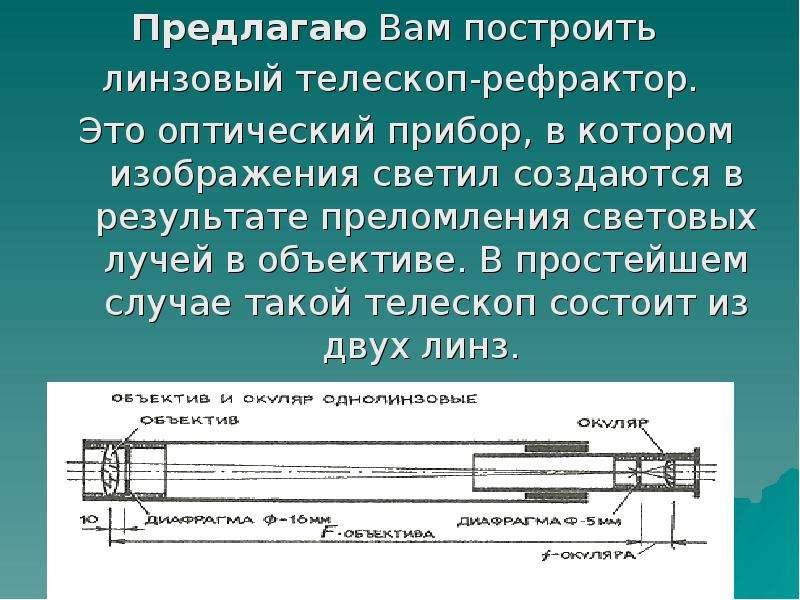 Рефрактор своими руками телескоп 84