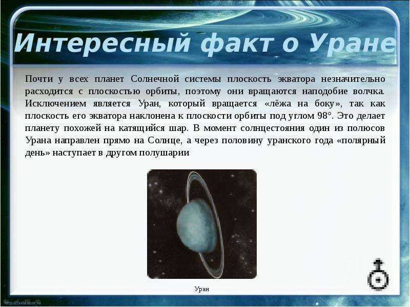 Интересные факты о планета уран в картинках