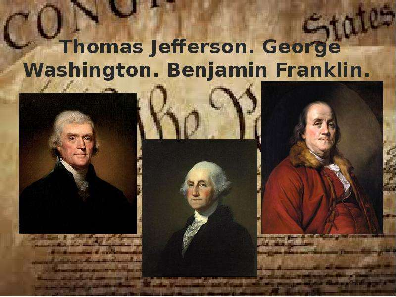 george washington and thomas jefferson Thomas jefferson, james madison, and george washington - once allies, politics served to fracture the relationships of these founding fathers from virginia.