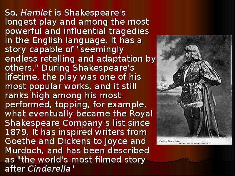 how hamlet was influenced by others