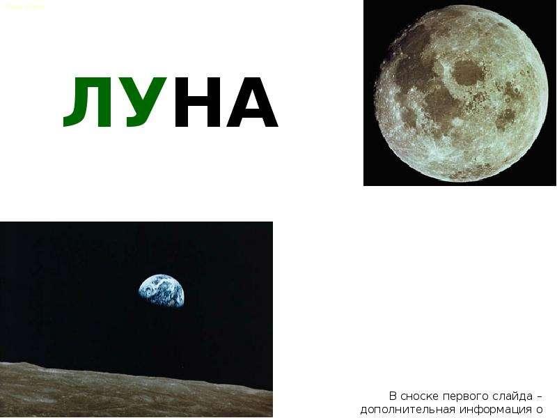 Moon - презентация по Астрономии