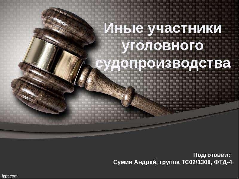 Презентация Иные участники уголовного судопроизводства