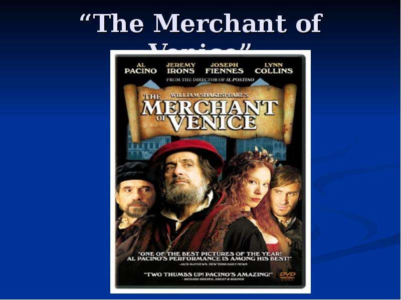 a summary of the play the merchant of venice by william shakespeare The merchant of venice is a 16th-century play by william shakespeare in which a merchant in venice must default on a large loan provided by an abused jewish moneylender it is believed to have been written between 1596 and 1599.