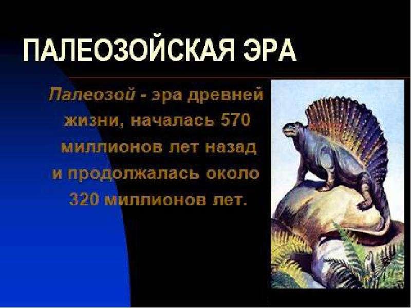 Развитие жизни на Земле: палеозой, слайд 2