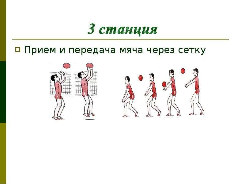 Прием и передача мяча через сетку Прием и передача мяча через сетку