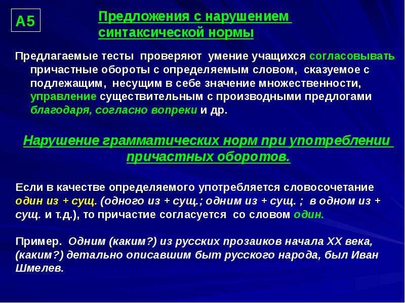 """""""Предложения с нарушением синтаксической нормы"""" - презентации по Русскому языку"""