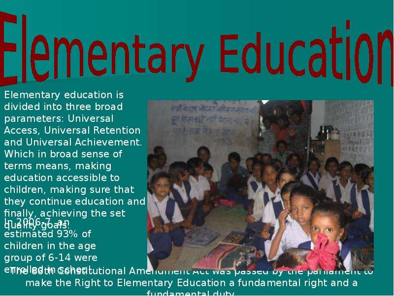 lecture 1 educational system in india National center on education and the economy, 2005 2 india education profile india, with more than a billion residents, has the second largest education system.