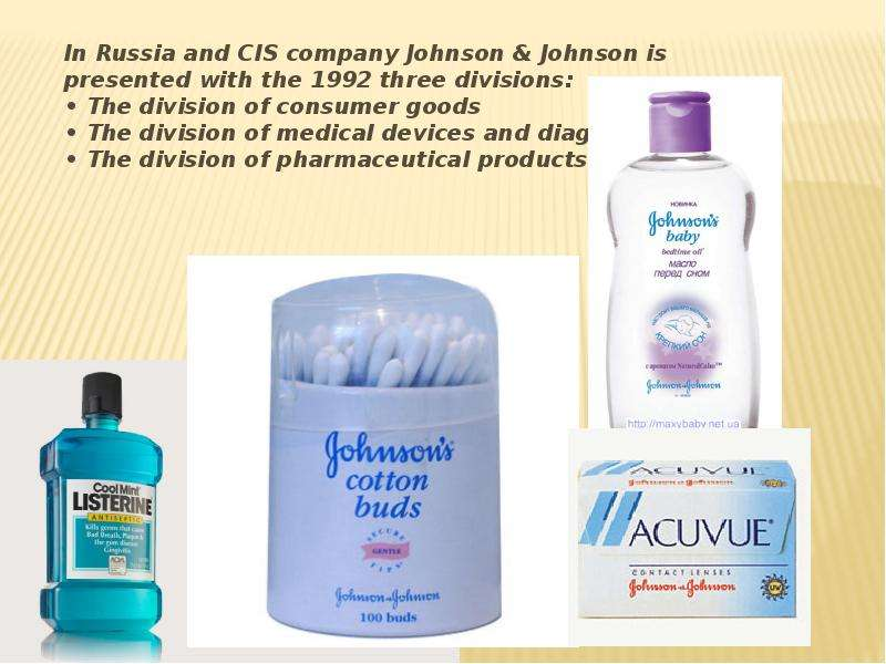 product mix of johnson johnson Behind the label each of the ingredients in johnson's® products is included for a specific purpose we know a list of ingredients on the back of our bottles can.