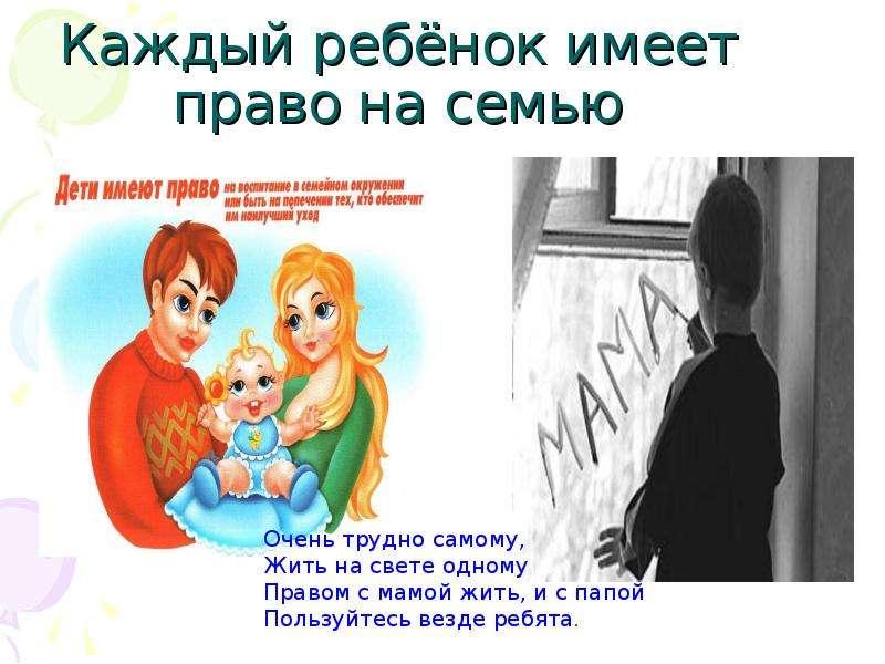 рисунок я имею право на семью россии