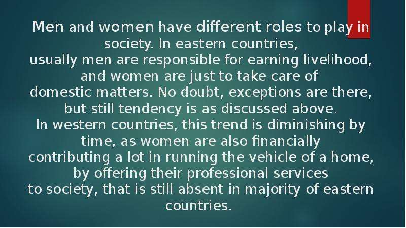 women's roles in society and contributions