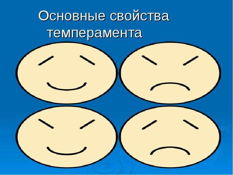 Презентация Основные свойства темперамента