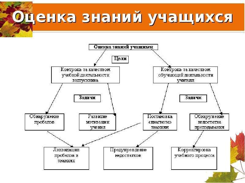 Оценка знаний учащихся
