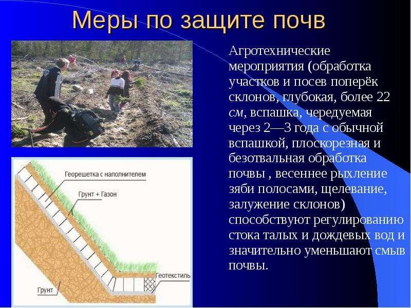 какие меры по охране земли применяются