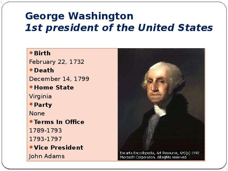 george washington as the best president in the history of the united states George washington summary: a name that stands out in us history more than many others is george washington george washington was the first president of the united states he was born in westmoreland county, virginia in 1732.