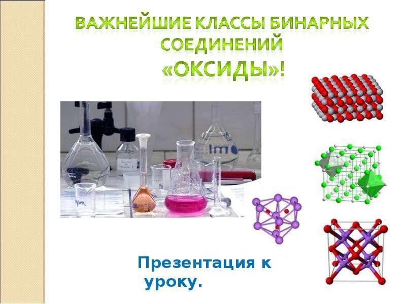 Презентация Важнейшие классы бинарных соединений «Оксиды»