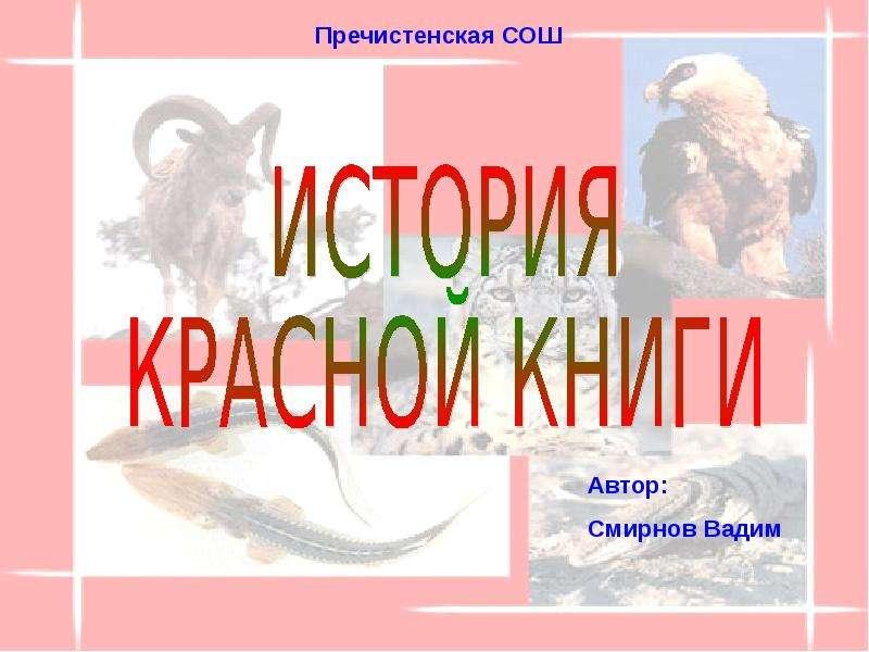 Презентация История красной книги