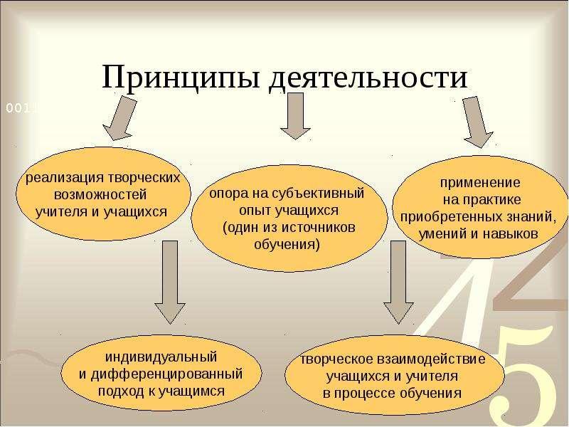 Принципы деятельности
