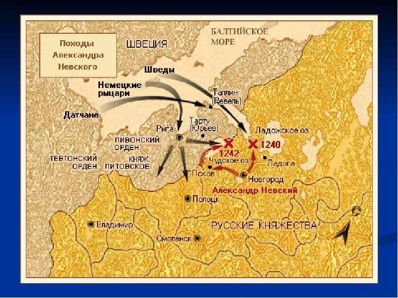 Борьба Руси с западными завоевателями, слайд 7