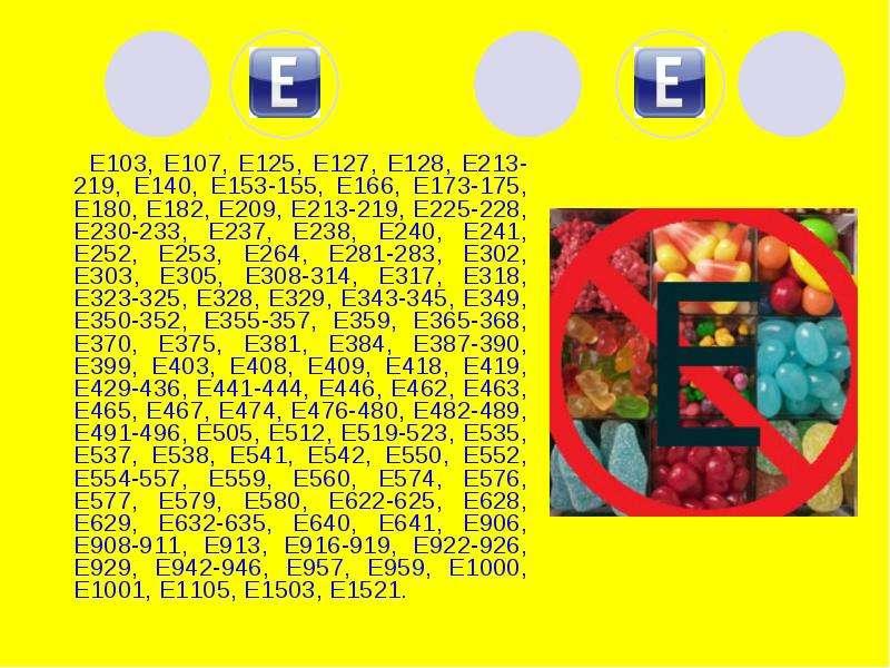 Е103, Е107, Е125, Е127, Е128, Е213-219, Е140, Е153-155, Е166, Е173-175, Е180, Е182, Е209, Е213-219,