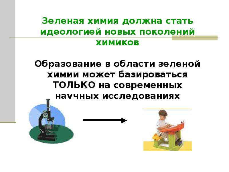 Зеленая химия и проблемы устойчивого развития, слайд 12