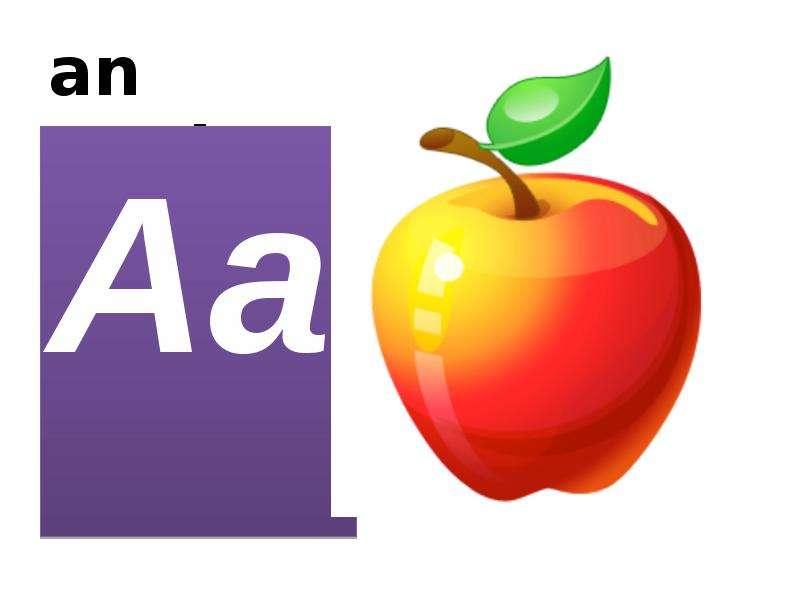 an apple Aa