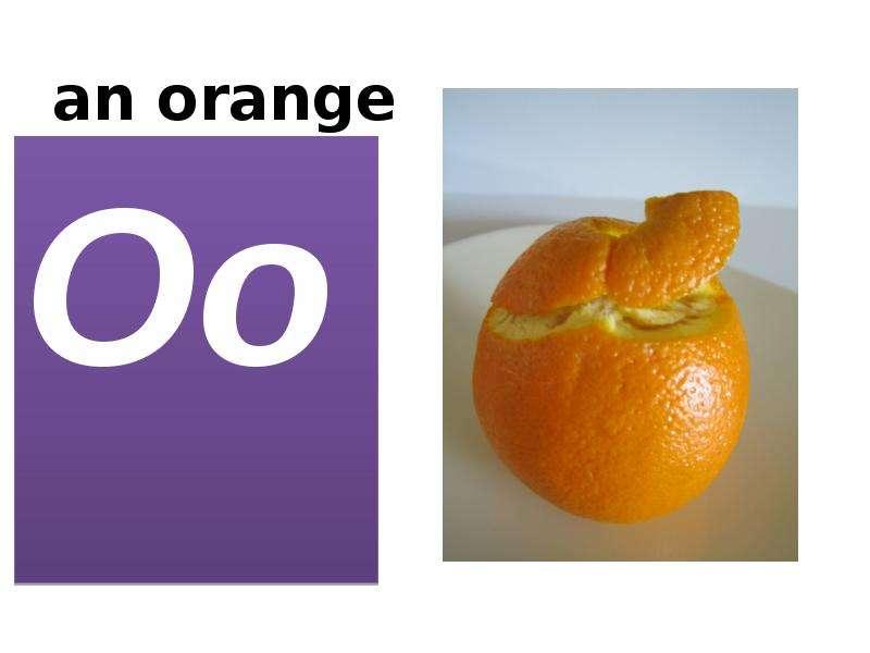 an orange Oo