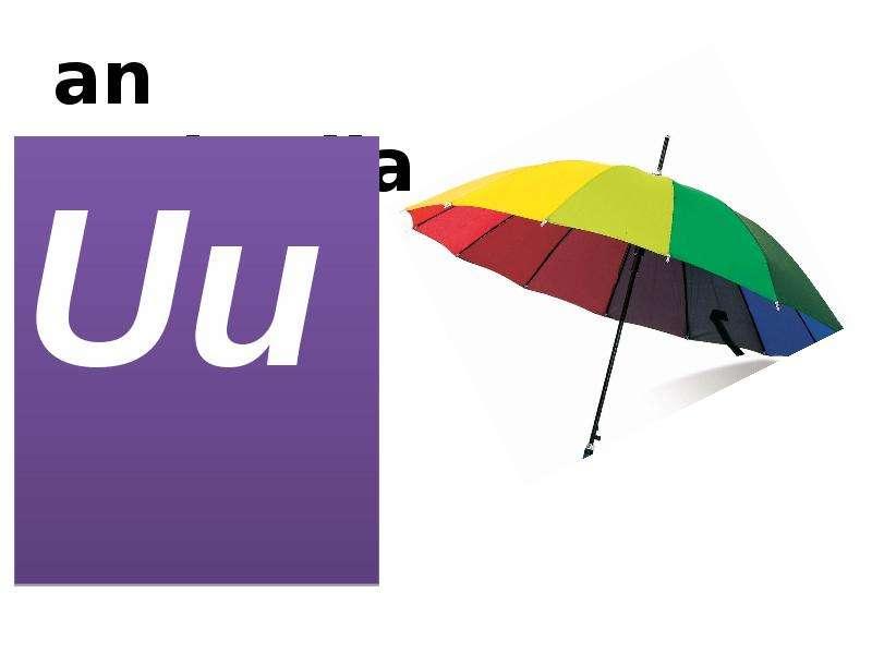 an umbrella Uu